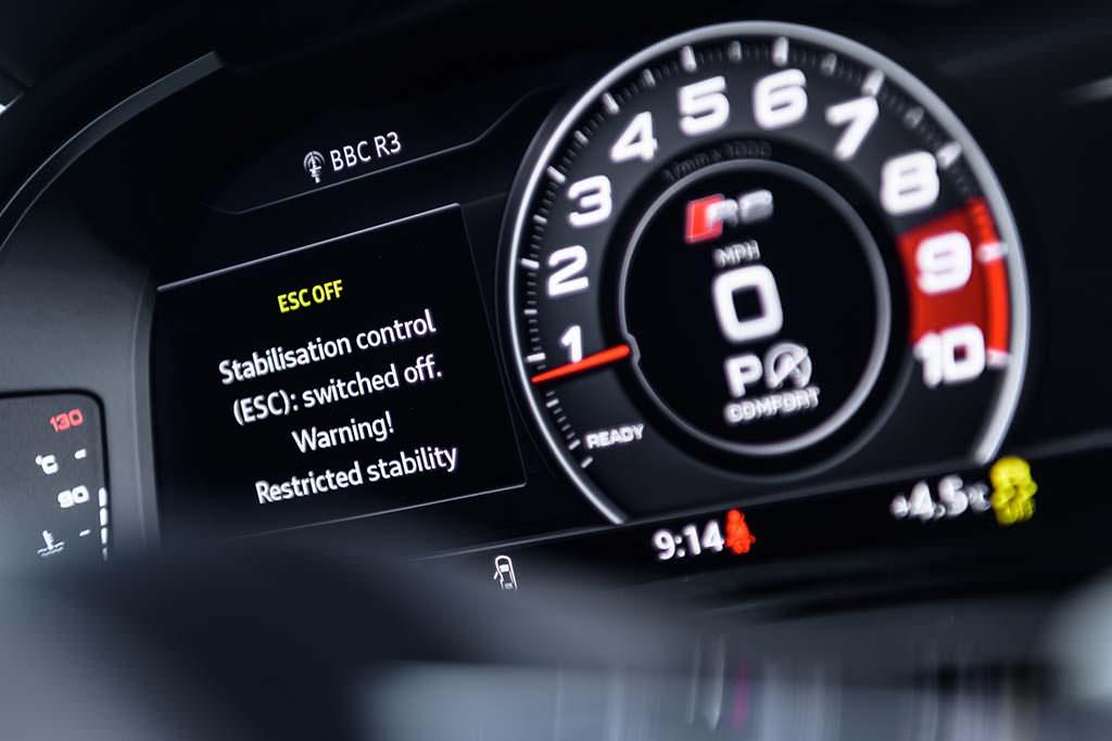 Цифровой кокпит Audi R8 V10 RWS Limited Edition