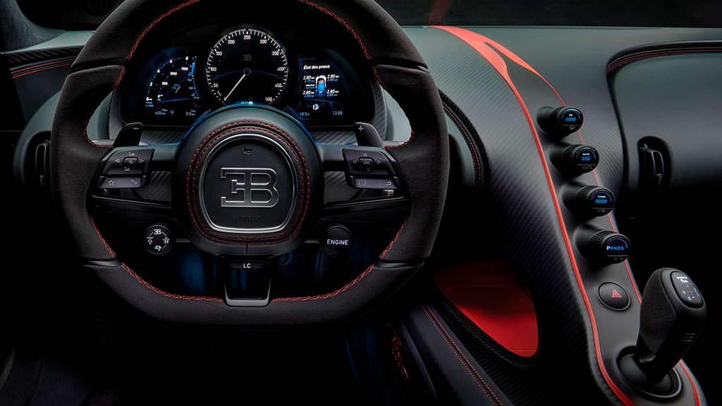 Фото внутри Bugatti Chiron Sport