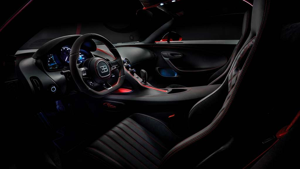 Фото салона Bugatti Chiron Sport