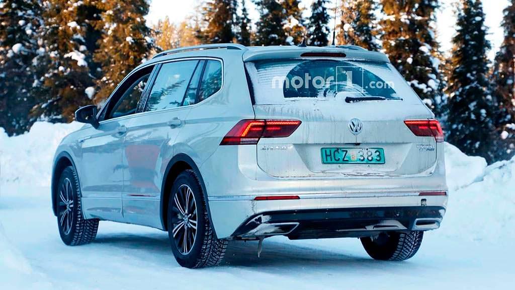 Гибрид Volkswagen Tiguan PHEV на тестах