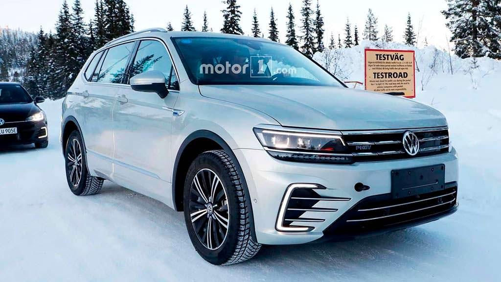 Зимние испытания Volkswagen Tiguan PHEV 2018