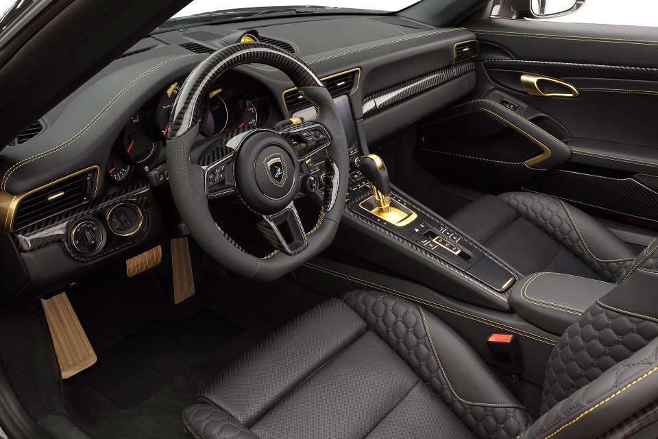 Золото в салоне Porsche 911 Stinger GTR. Тюнинг от TopCar