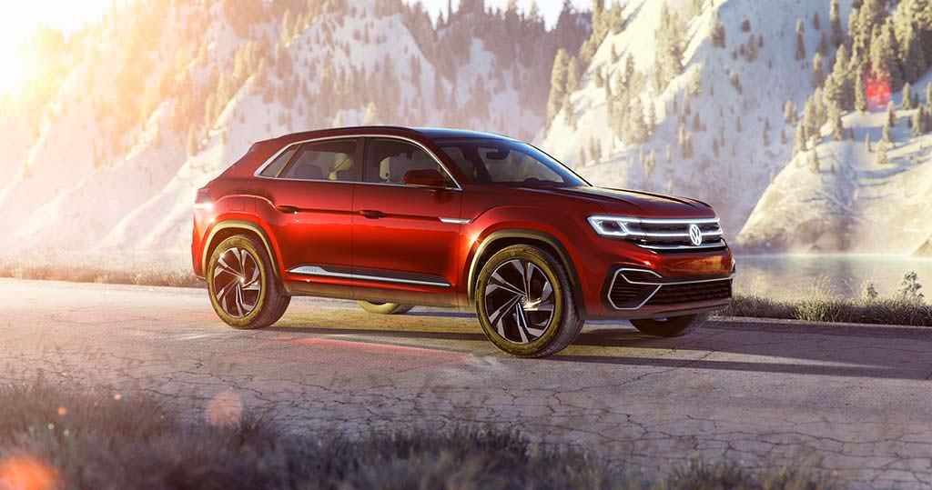 Стильный кроссовер Volkswagen Atlas Cross Sport Concept