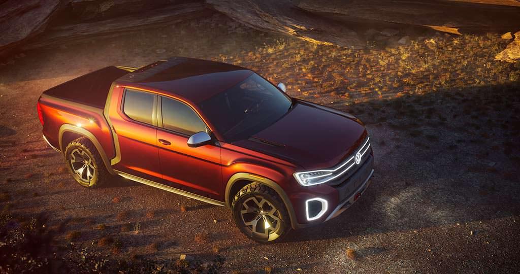 Новый Volkswagen Atlas Tanoak Pickup Concept