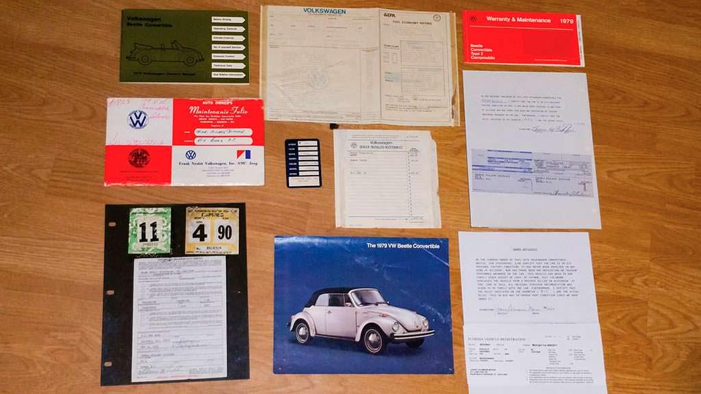 Сервисные книги Volkswagen Beetle Cabriolet 1979 года выпуска