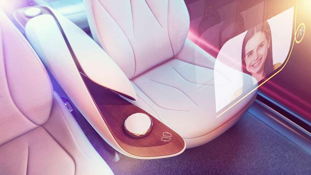 Проекционные дисплеи Volkswagen I.D. Vizzion Concept