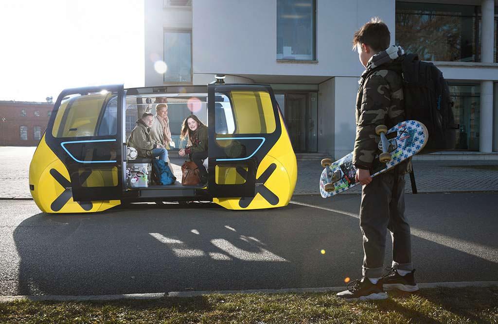 Школьный Volkswagen Sedric School Bus Concept с автопилотом