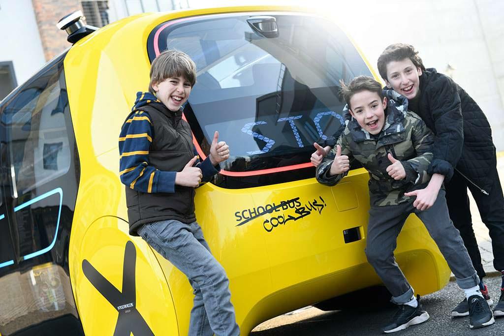 Школьный автобус без водителя Volkswagen Sedric School Bus