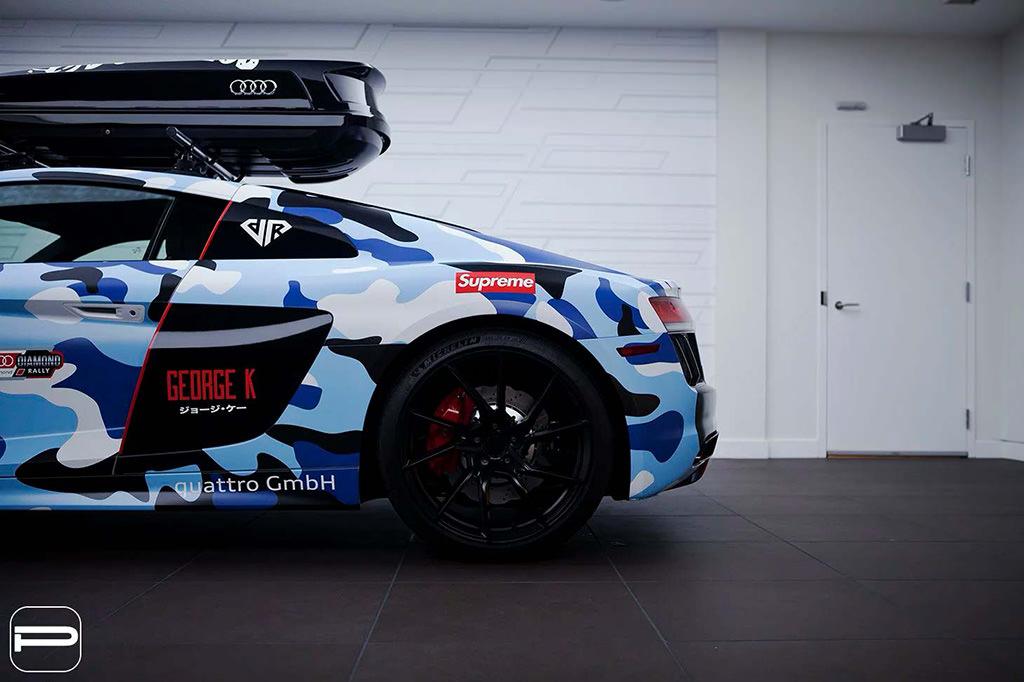 Audi R8. Матовые черные колеса PUR Wheels FL26