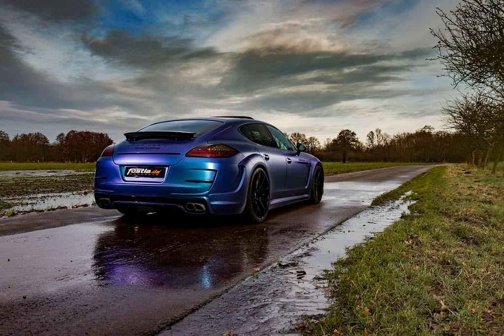 Старая Porsche Panamera в хамелеон-виниле Fostla
