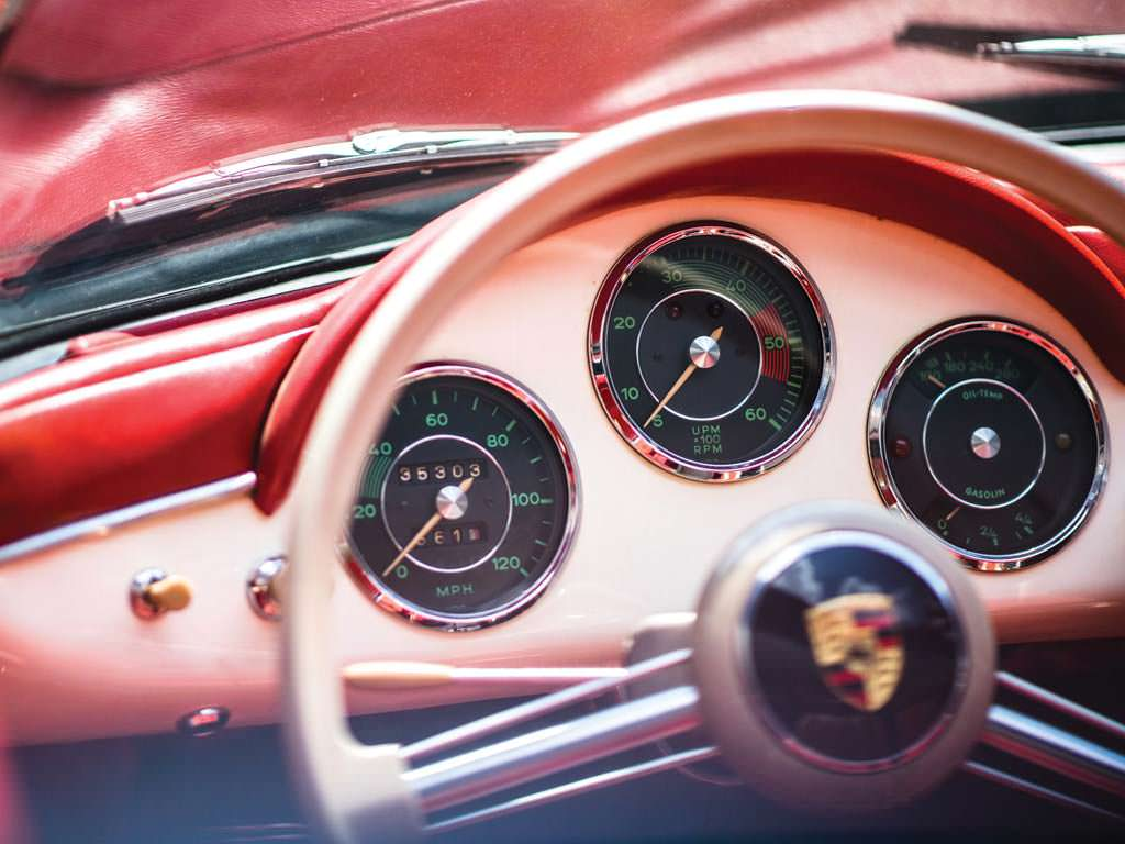 Приборная панель Porsche 356 A 1600 Speedster 1956 года выпуска