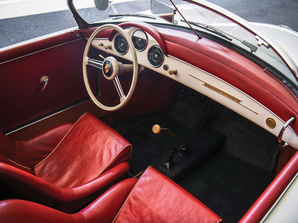 Фото салона Porsche 356 A 1600 Speedster 1956 года выпуска