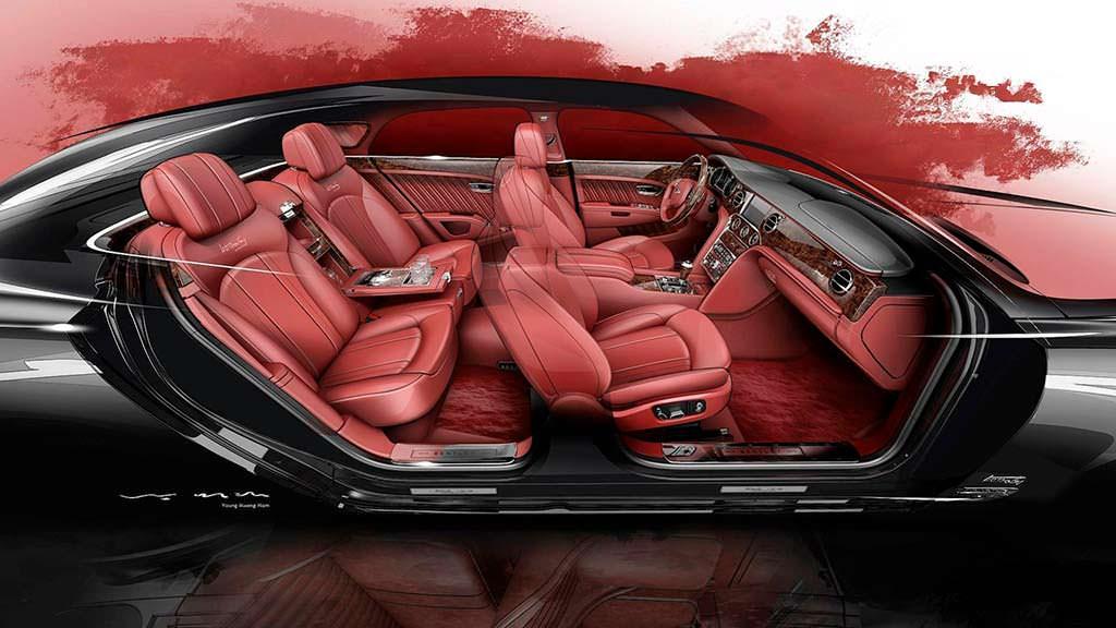 Компоновка салона Bentley Mulsanne W.O. Edition by Mulliner