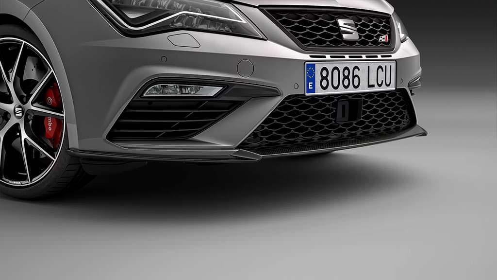 Передний сплиттер SEAT Leon ST Cupra Carbon Edition