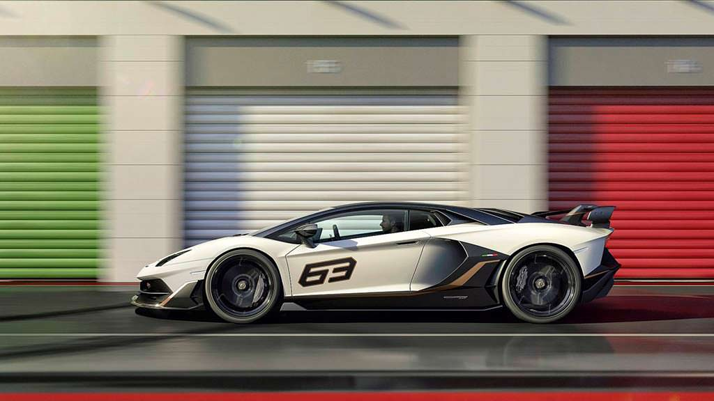 Юбилейный суперкар Lamborghini Aventador SVJ 63