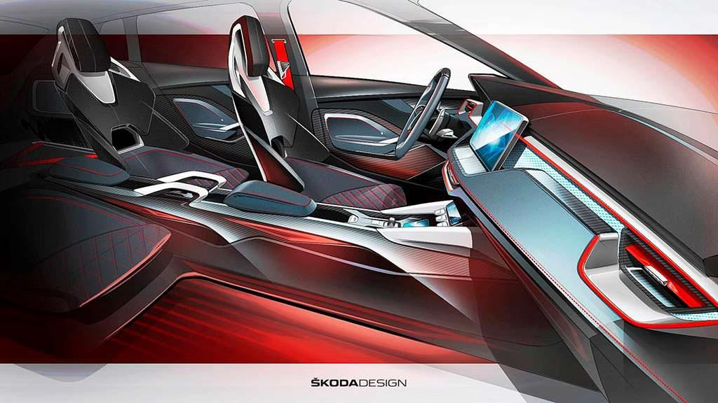 Наброски салона Skoda Vision RS