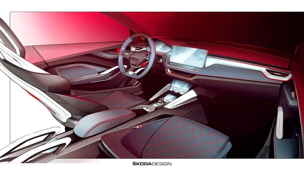 Скетчи салона Skoda Vision RS