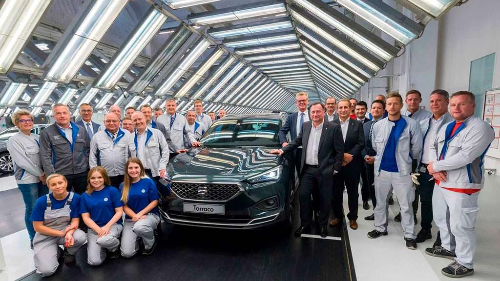 Конвейер SEAT Tarraco на заводе Volkswagen в Вольфсбурге