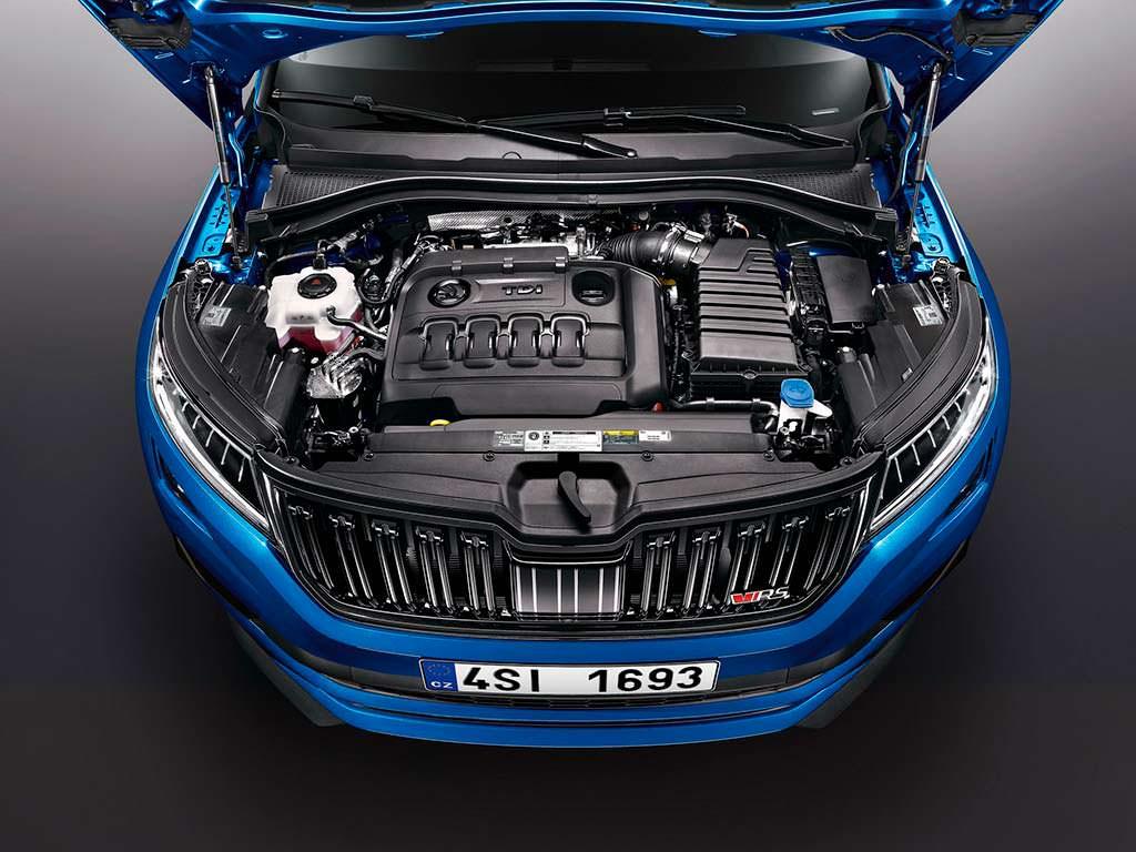Под капотом Skoda Kodiaq RS. Дизель TDI Biturbo мощностью 240 л.с.
