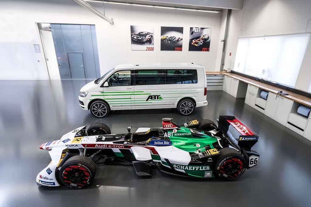 Электро-фургон Volkswagen e-Transporter от Audi Formula E