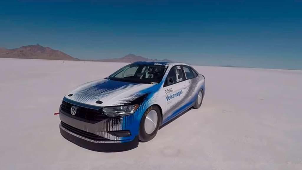 Рекорд скорости Volkswagen Jetta