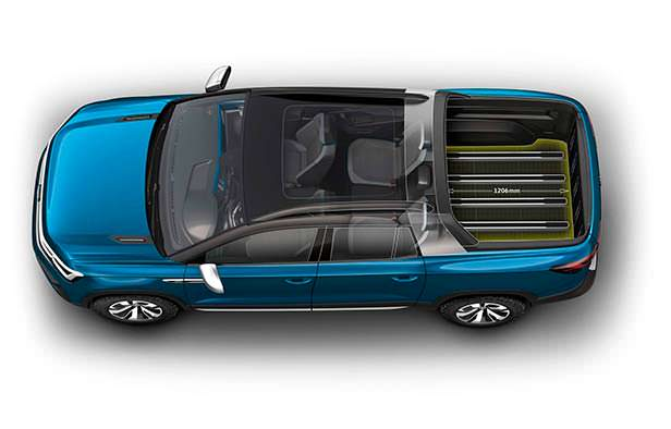 Четырехместный пикап Volkswagen Tarok Concept 2018