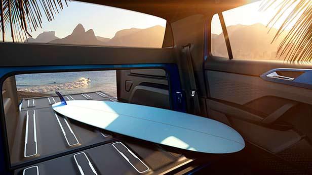 Грузовой расширяемый отсек Volkswagen Tarok Concept 2018