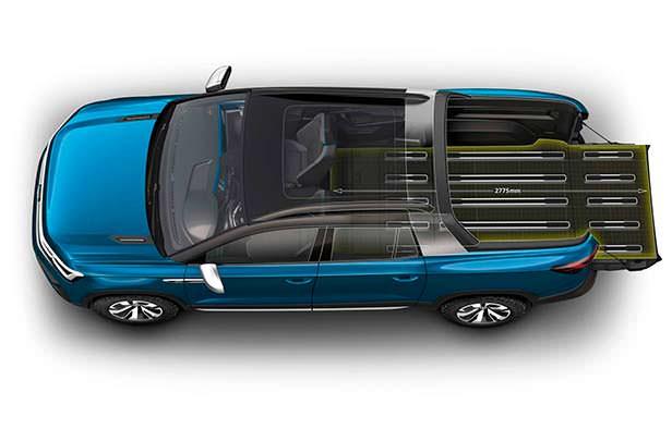 Расширяемое пространство загрузки Volkswagen Tarok Concept 2018