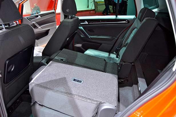 Конфигурация заднего дивана VW Golf Sportsvan
