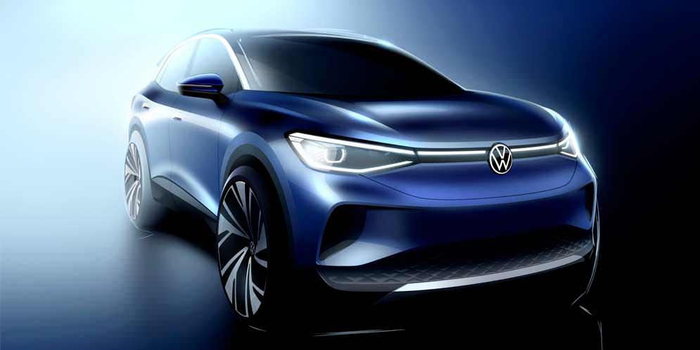 Дизайн Volkswagen ID.4 раскрыт на официальных скетчах