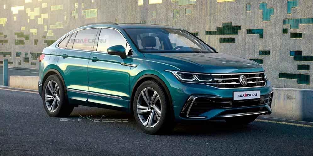 Рендер VW Tiguan X - народный ответ Audi Q3 Sportback