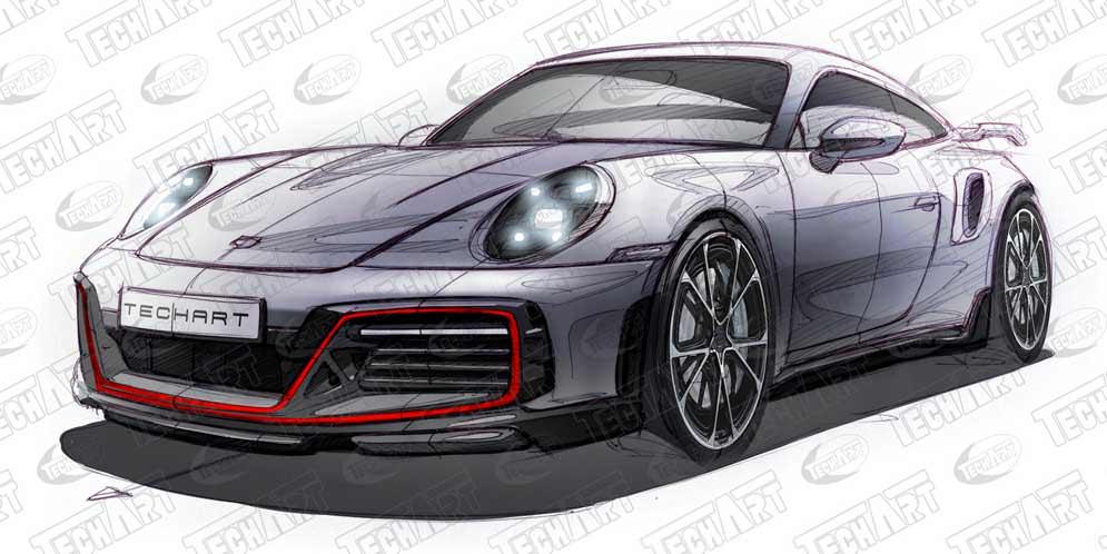 TechArt готовит тюнинг новому Porsche 911 Turbo S | фото
