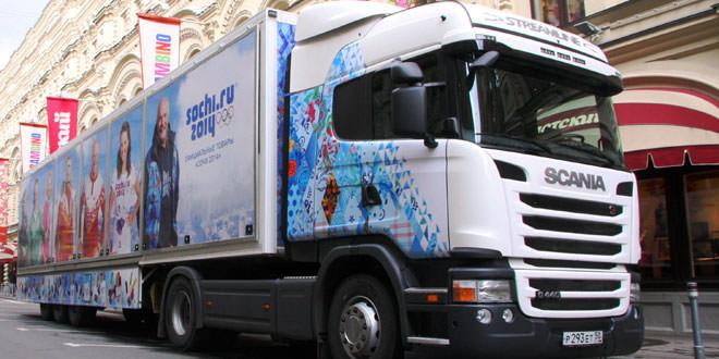 Scania поедет с Олимпийскими сувенирами по России