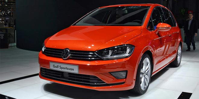 Volkswagen Golf Sportsvan тихо докатился до Женевы