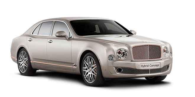 Первый гибрид Bentley: пока лишь концепт на базе Mulsanne