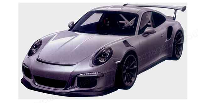 Компания Porsche получила патент на новый 911 GT3 RS