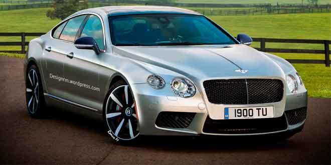 Рендер нового четырехдверного купе Bentley