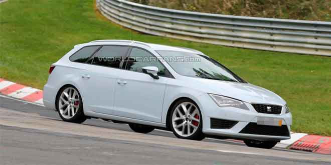 SEAT тестирует «заряжённый» универсал Leon ST Cupra