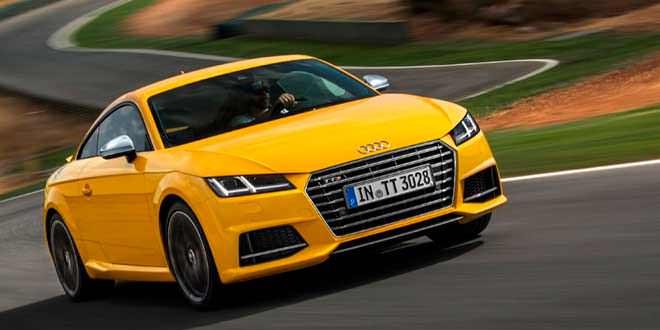 Audi TT и TTS Coupe примерили новые цвета кузова Vegas Yellow и Tango Red