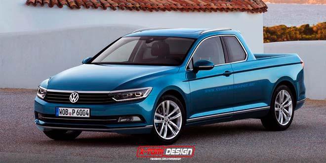 Рендер на тему пикапа VW Passat