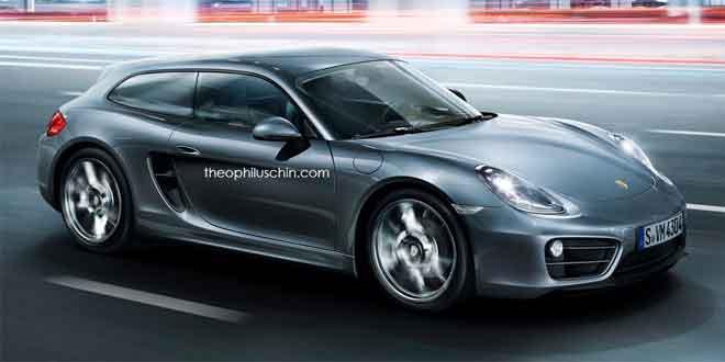 Рендер на тему Porsche Cayman Shooting Brake