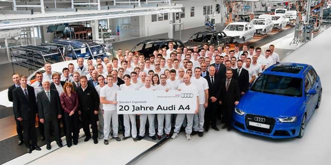 Audi празднует 20-летие A4