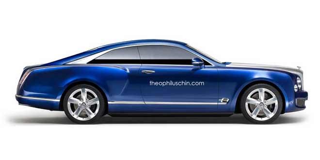 Рендер купе на базе  концепта Bentley Grand Convertible