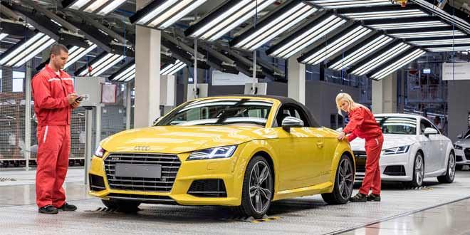 В Венгрии стартовало производство Audi TT Roadster