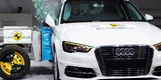 Audi A3 e-tron прошла краш-тест Euro NCAP на 5