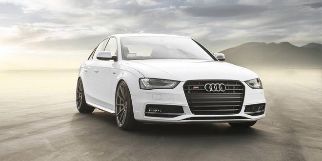 Спортседан Audi S4 примерил графитовые диски Vorsteiner