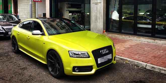 Audi S5 Sportback в кислотном виниле