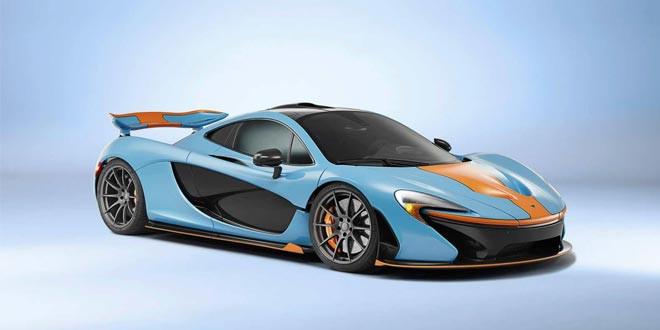 Супергибрид McLaren P1 примерил раскраску Gulf