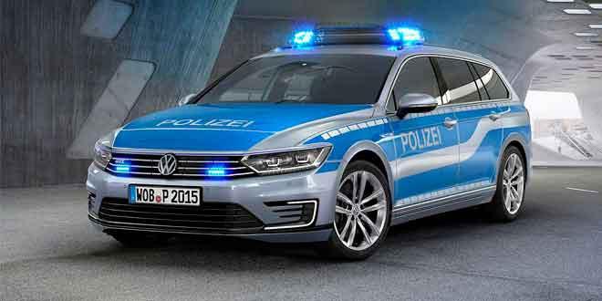 Для службы в полиции подготовлен гибридный универсал Volkswagen Passat GTE
