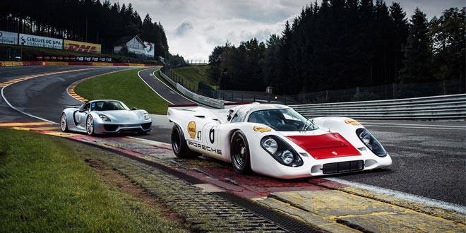 Легенды Porsche на треке: 917 против 918 Spyder